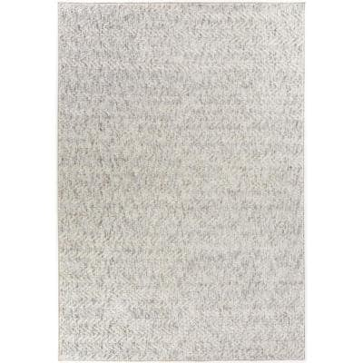Tessin Grey 8 ft. x 10 ft. Contemporary Area Rug