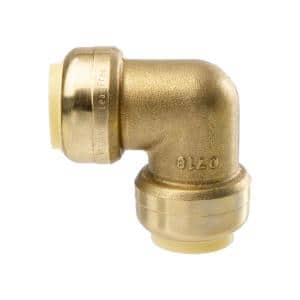 3/4 in. Brass Push-Fit Elbow Fitting