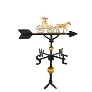 32 in. Deluxe Gold Country Dr. Weathervane