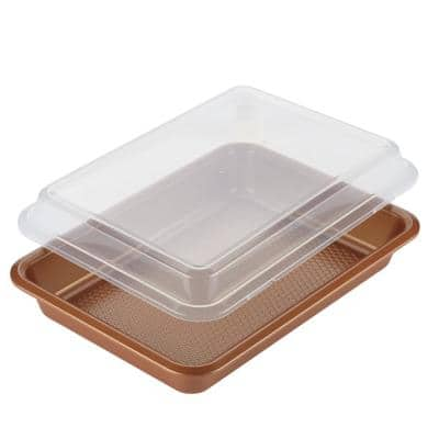9 in. x 13 in. Copper Bakeware Covered Cake Pan