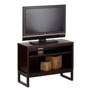 Athena 40 in. Dark Chocolate Wood TV Stand Fits TVs Up to 50 in. with Cable Management
