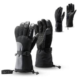 Unisex Large 3-in-1 Rechargeable Heated Gloves with Lithium-ion Battery and Charger (2-Pairs of Gloves)