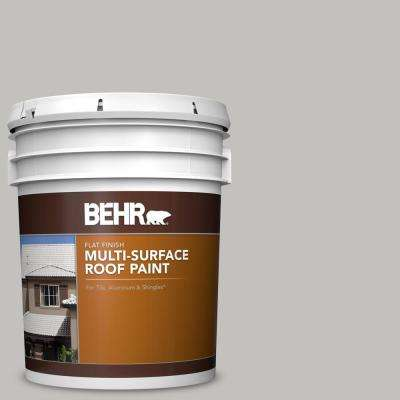 5 gal. #RP-11 Gravel Gray Flat Multi-Surface Exterior Roof Paint