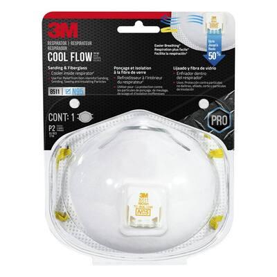 8511 N95 Sanding and Fiberglass Valved Respirator (1-Pack)