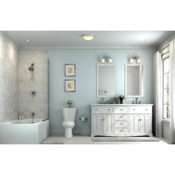 Envirolite 11 In White Integrated Led, Bathroom Flush Mount Light