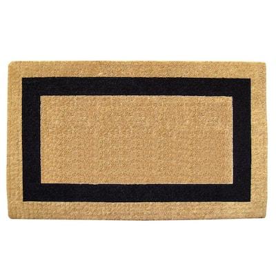 Single Picture Frame Black 38 in. x 60 in. Heavy-duty Coir Door Mat