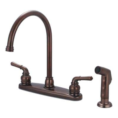 Accent 2-Handle Standard Kitchen Faucet with Sprayer in Oil Rubbed Bronze