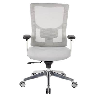 ProGrid White Mesh Mid Back Chair