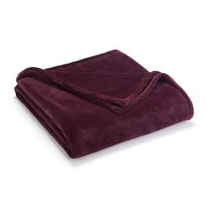 Sheared Mink Fig Polyester King Blanket