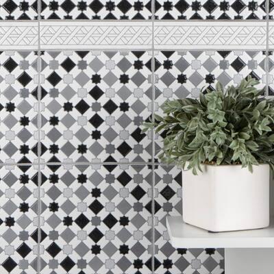 Sevillano Listello Camino White 2 in. x 7-7/8 in. Ceramic Wall Trim Tile