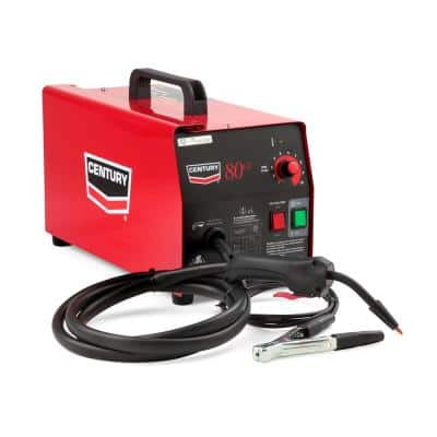 70 Amp 80GL Wire Feed Flux Core Welder and Gun with Flux-Cored Wire Spool, 115V
