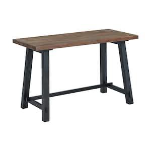 Adam 48 in. W Rectangular Brown Solid Wood Writing Desk