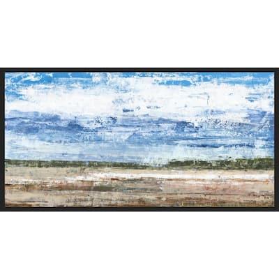 Open Plains Creek , Framed Wall Art, 31 in x 25 in