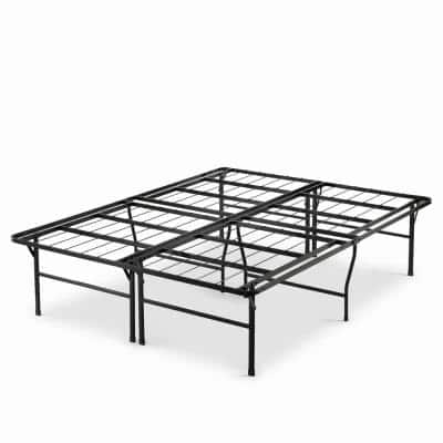 Casey Premium 18 in. Queen Metal Smartbase Bed Frame with Easy Assembly