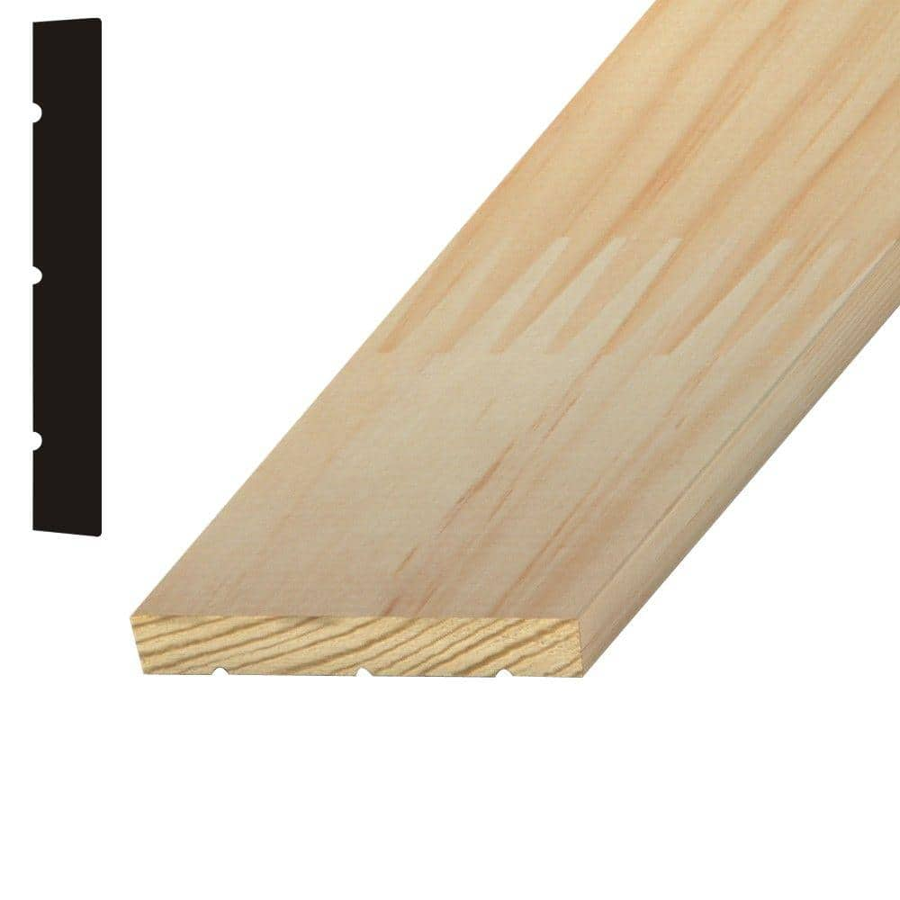 Builder S Choice 11 16 In X 5 1 4 In X 84 In Finger Jointed Pine Interior Jamb Moulding Hdfij514 7 The Home Depot