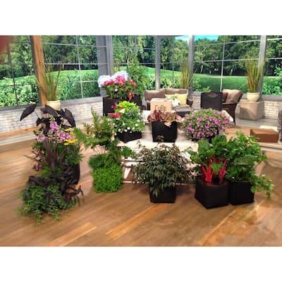 1 ft. x 1 ft. Black Modular Instant Raised Garden Planter CuBe