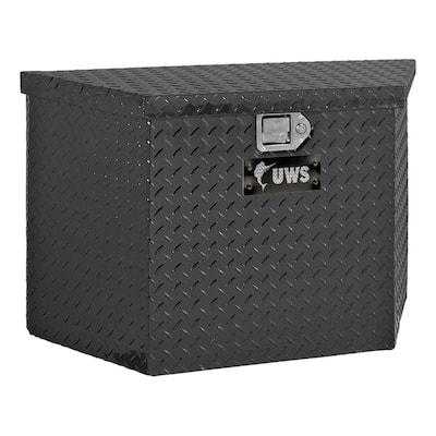 "Gloss Black Aluminum 34"" Trailer Tongue Box (Heavy Packaging)"