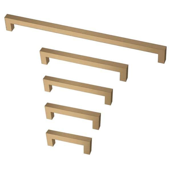 Liberty Modern Square Bar Pull 12 In 305 Mm Champagne Bronze Drawer Pull P41875c Cz C The Home Depot