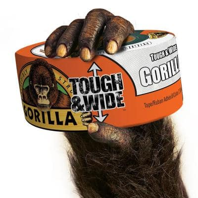 2.88 in. x 25 yd. White Tough and Wide Duct Tape (4-Pack)
