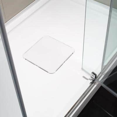 Brooklyn 32 in. x 48 in. Single Threshold Shower Base with Center Hidden Drain in Glossy White