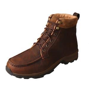 Steel Blue Men S Argyle 6 Inch Lace Up Work Boots Steel Toe Oak Size 9 5 M 812952m 095 Oak The Home Depot