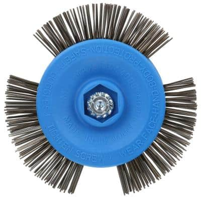 4 in. Drill Mount Quick-Strip Wire Brush