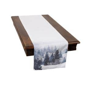 0.1 in. H x 15 in. W x 70 in. D Winter Wonderland Double Layer Christmas Table Runner