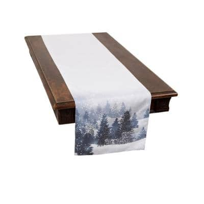 0.1 in. H x 15 in. W x 90 in. D Winter Wonderland Double Layer Christmas Table Runner