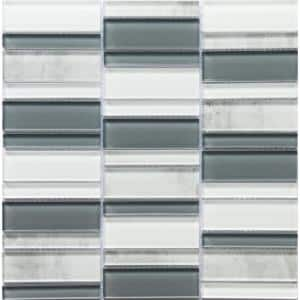 La Vie Silver 11.81 in. x 11.93 in. x 6mm Glass Mesh-Mounted Mosaic Tile (0.98 sq. ft.)