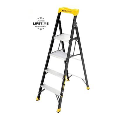 5.5 ft. Fiberglass Dual Platform Ladder (10 ft. Reach), 250 lb. Load Capacity Type I Duty Rating
