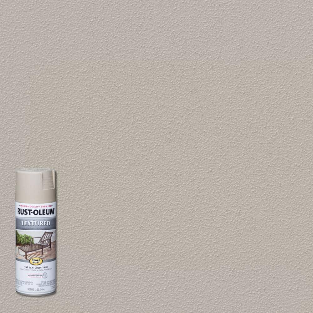 Rust-Oleum Stops Rust 12 oz. Textured Sandstone Brown Protective Spray Paint (6-Pack)