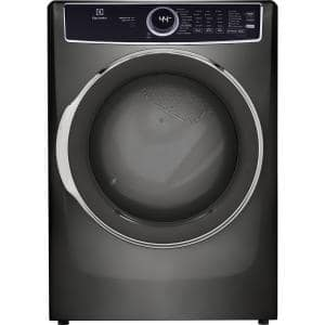 8.0 Cu. Ft Front Load Perfect Steam Electric Dryer with LuxCare Dry and Instant Refresh inTitanium