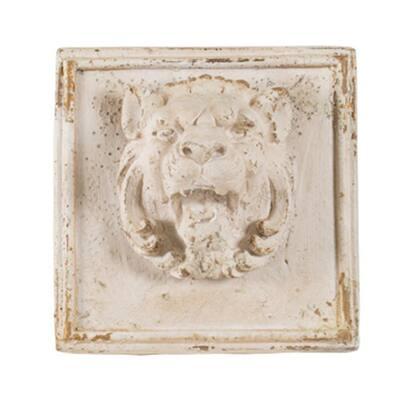 Antique Cream Lion Head Wall Decor