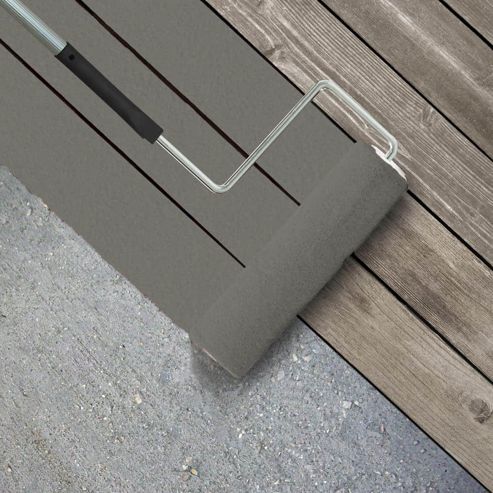 Behr Premium 1 Gal Hdc Nt 23 Wet Cement Textured Low Lustre Enamel Interior Exterior Porch And Patio Anti Slip Floor Paint 623001 The Home Depot