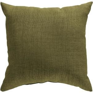 Strahlhorn Green Solid Polyester 18 in. x 18 in. Throw Pillow