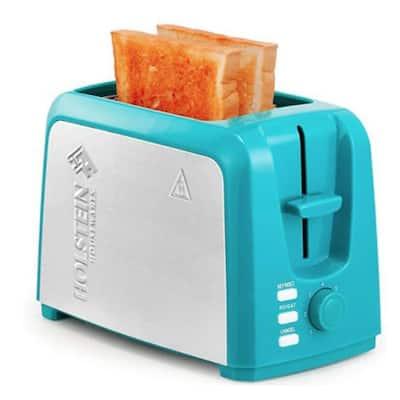 Everyday 750-Watt 2-Slice Teal Wide Slot Toaster