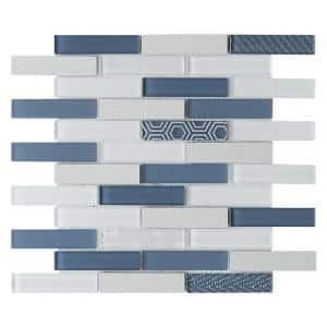 Volare Stella 11.73 in. x 11.73 in. x 7mm Glass Mesh-Mounted Mosaic Tile (0.96 sq. ft.)