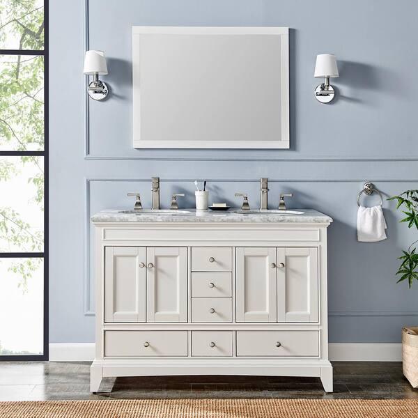 Eviva Elite Stamford 48 In White Solid, Bathroom Vanity Set