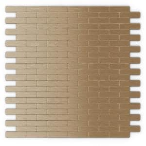 Bricky LC Light Copper 11.81 in. X 11.42 in. X 5 mm Metal Peel and Stick Wall Mosaic Tile (22.8 sq. ft. / case)
