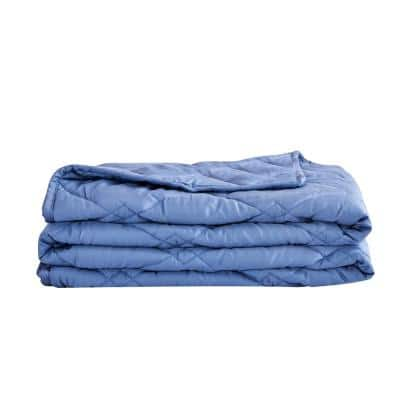 Blue Tencel 48 in. x 72 in. x 12 lbs. Weighted Throw Blanket