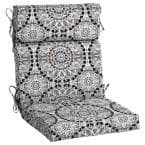21.5 in. x 24 in. Outdoor High Back Dining Chair Cushion in Large Medallion