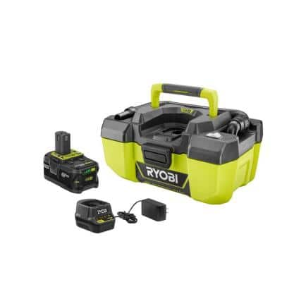 18-Volt ONE+ Lithium-Ion Cordless 3 Gal. Project Wet/Dry Vacuum with Accessory Storage, 4.0 Ah Battery, and Charger