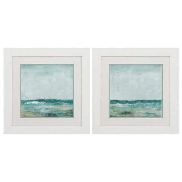 Homeroots Victoria White Gallery Frame Set Of 2 365263 The Home Depot