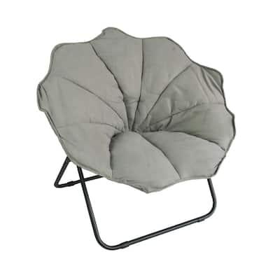 Papasan Small to Medium Grey Pet Bed with Microfiber Cover Cushion