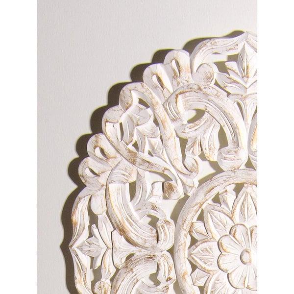 Best Home Fashion Round Decorative, Round White Wood Wall Decor