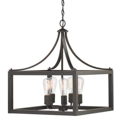 Boswell Quarter 5-Light Distressed Black Pendant
