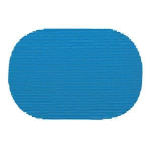 Fishnet Oval Placemat in Process Blue (Set of 12)