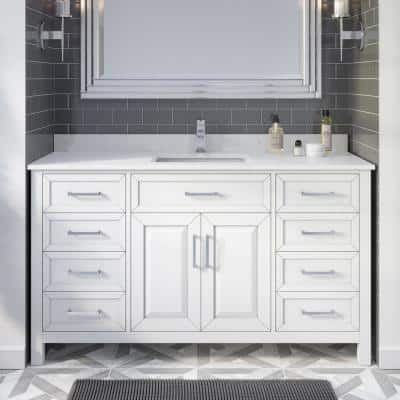 With Electrical Outlet Bathroom Vanities With Tops Bathroom Vanities The Home Depot