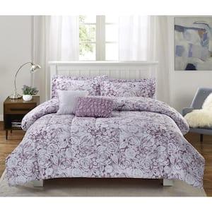 Amanda 5-Piece Purple King Comforter Set
