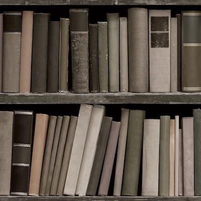 Bookshelf Multi Peel and Stick Wallpaper (Covers 56 sq. ft.)